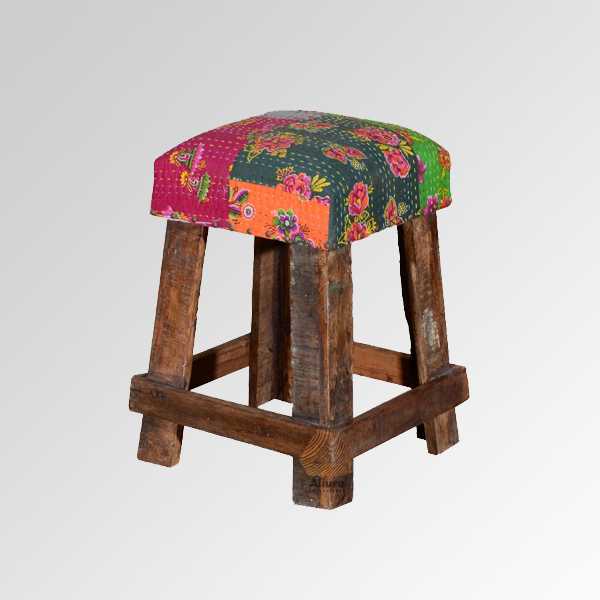 Wooden Canvas Stool